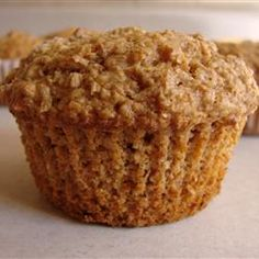 Oat Bran Muffins Recipe.  I added apples, cut back on the brown sugar, used coconut oil instead of veg. oil, added chopped pecans, and used Bobs Red Mill gluten free flour.  These were awesome!!