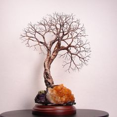 Wire Tree Of Life Soul Mate Spirits sculpture by CrowsFeathers SOLD