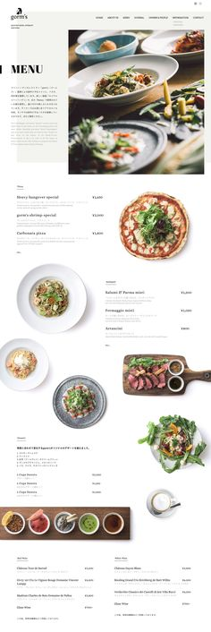 create restaurant website, inspiration for the menue page / Restaurant Webseite erstellen, Speisekarte inspiration Layout Design, Layout Web, Menu Layout, Graphisches Design, Design Color, Cover Design, Design Ideas, Interior Design, Menu Restaurant