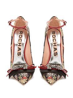 Bow-embellished floral-jacquard pumps   Rochas   MATCHESFASHION.COM
