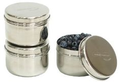 Amazon.com: Kids Konserve Stainless Steel Mini Food Containers, Set of 3: Lunch Boxes: Kitchen & Dining
