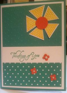 Thanking of You card for OWH, from class by Peggy Taylor & June Welch (Stampin Up)