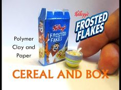 Polymer Clay and Paper Dollhouse Miniature Frosted Flakes Inspired Doll Cereal - YouTube