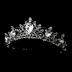 This is my tiara! I think it is simply beautiful. While looking at my choice of tiaras, this one just seemed to be the perfect choice. Silver Hair Accessories, Bridal Accessories, Accessories Display, Bridal Tiara, Wedding Jewelry, Bridal Headpieces, Bridal Crown, Quinceanera Tiaras, Wedding Tiaras