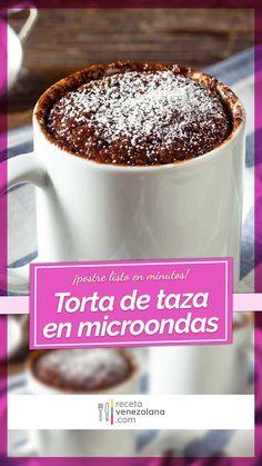 Tassen Kuchen in nur 2 Minuten 😍 ♥ P&S Backparadies - New ideas Venezuelan Food, Easy Cake Recipes, Kakao, Mini Cakes, Muffins, Pudding, Cupcakes, Mugs, Eat
