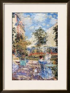 In a French Garden Art Print by Childe Hassam at Art.com