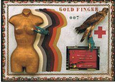 In de Online Art Gallery van Muset www.postersquare.com is de Kaart van de week(45)  Goldfinger-design Woody van Amen.