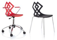 The Zahira Chair by Stefano Sandona for Alma Design is a modern, multipurpose chair that you can enjoy in a variety of settings. Cool Furniture, Furniture Design, Latest Wallpapers, New Wallpaper, Chair Design, Simple Designs, Home Furnishings, Design Trends, Red Chairs