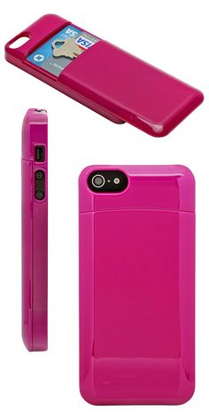 Secret Stash iPhone case // slim case with a secret compartment for card, keys etc. Clever! #product_design