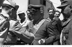 Rommel receiving the title of the Grand Officer of the Colonial Order of the Star of Italy, North Africa, 28 Apr photo 1 of 3 Afrika Corps, Colonial, Erwin Rommel, Field Marshal, Johannes, German Army, Panzer, North Africa, World History