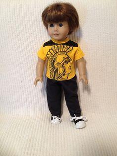 18 inch BOY doll Trojran shirt with black pants by peggysprozac