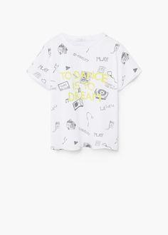 Camiseta algodón estampada | MANGO KIDS
