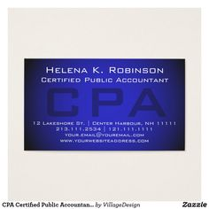 Accountant business cards accountant business cards pinterest cpa certified public accountant striking blue business card colourmoves