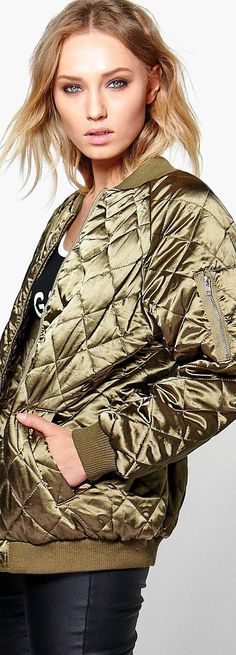 Boutique Lily Longline Quilted Satin Bomber - Coats & Jackets  - Street Style, Fashion Looks And Outfit Ideas For Spring And Summer 2017