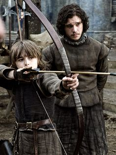 Bran Stark and Jon Snow, game of thrones season 1. Kit Harington, Isaac Hampstead Wright
