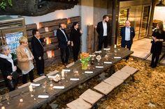 Polscy architekci - spotkanie Manufaktura Wirchomski event architects furniture meble drewno wood Poland Polish designers kitchen table