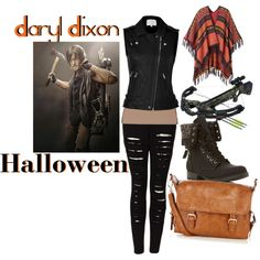 Inspired by Norman Reedus as Daryl Dixon on The Walking Dead. Zombie Apocalypse Outfit, Apocalypse Fashion, Summer Fashion Outfits, Edgy Outfits, Cute Outfits, Fashion Ideas, Movie Inspired Outfits, Themed Outfits, Walking Dead Clothes