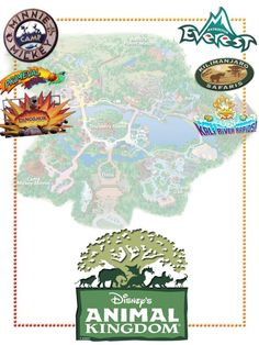 Animal Kingdom with some ride logos - Project Life Journal Card - Scrapbooking.
