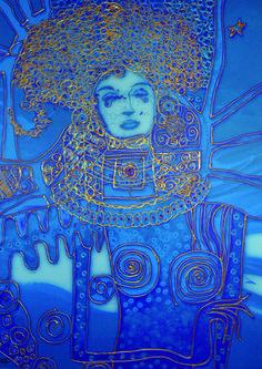 Título: Antonieta - Cód 1003 PD- Artista: Edson Verti - Tamanho 80x100 -  Técnica Pintura Digital impressa sobre Tecido