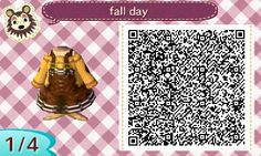 Autumn Collection | QR codes - Animal Crossing: New Leaf