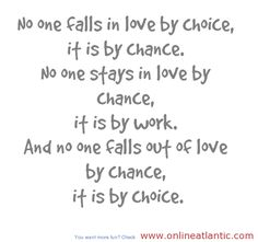 Life quotes about by chance and by choice
