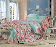 DIAIDI,Korean Bedding Set,Beautiful Princess Ruffle Bedding Sets,Princess Bedding Queen Size,4Pcs Bed Sets,Unique Bedding Sets,Wedding Bed Cover (2), http://www.amazon.com/dp/B00D0RCTFY/ref=cm_sw_r_pi_awdm_Ilfptb03G4PFA