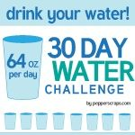 30 day Water Challenge – 64 oz a day   Pepper Scraps