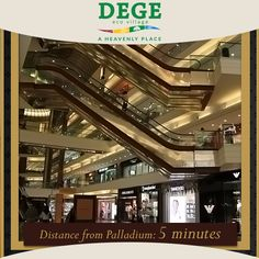 Nothing beats living minutes away from the city's best luxury shopping mall! From Gucci to DKNY, it's a shopper's paradise at #DegeEcoVillage!