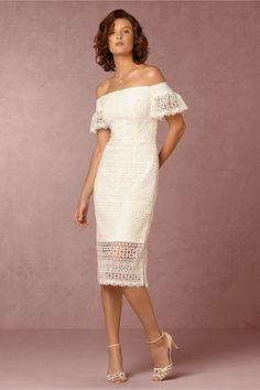 BHLDN's Cynthia Rowley Mavis Dress in Ivory