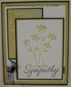 River Rock Sympathy using Stampin Up Close as a Memory