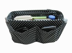 Purse ORGANIZER Insert Bag and Purse Organizer  / Black by obuyme, $28.95