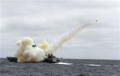 South Korean Navy's Guided Missile Patrol Gun Boat fires a harpoon missile during a firing exercise against a possible invasion by North Korean submarines near islands called Dokdo in South Korea and Takeshima in Japan, Friday, June 20, 2014. (AP Photo/Yonhap, Lee Sanh-hack) KOREA OUT ▼21Jun2014AP Review confirms basis of Japan's sex slave apology http://bigstory.ap.org/article/japan-reports-review-sex-slave-apology-study
