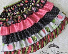 Ruffle Skirt Pattern - Tiered Layered Ruffles Skirt - PDF Sewing Pattern for Girls