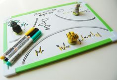 Zoo (1) on the go Travel Magnet Set with WhiteBoard and markers- CitrusAtelier Travel Toy, for in the car, on the plane, anywhere!