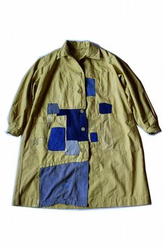 Voici les vêtements fabriqués dans notre boutique, les marques de Sasaki (sasakijirushi). Fait l'objet d'un patchwork dans la vieillesse, avec la Slovaquie fait travail manteau. Et trouvé une moutarde très rare ce manteau de travail Workwear C'était encore (une fois que je me suis lavé) les produits qui utilisent la situation de stockage n'est pas si bon ? A fané et Tan, partie des vieux tissus de vêtements de travail Nous avons utilisé le chiffon et le patchwork. Fini couche de moutard...
