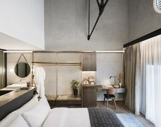 Interior design firm Asylum has transformed a former spice warehouse in Singapore's Robertson Quay into a boutique hotel with 37 rooms. Boutique Hotel Bedroom, A Boutique, Hotel Room Design, Restaurant Interior Design, Dusty Blue, Hotel Concept, Master Bedroom Interior, Hotel Interiors, Florida Hotels