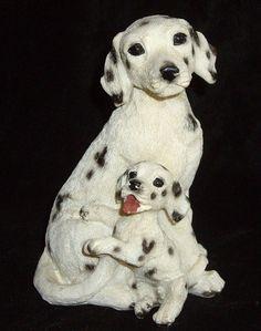 Dalmatian and Puppy Dog Vintage Dog Figurine by daniellesoriginals, $12.00