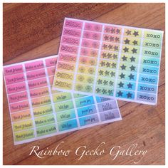 Rainbow Gecko Gallery Sentiment and Symbol Stickers by RainbowGeckoGallery on Etsy