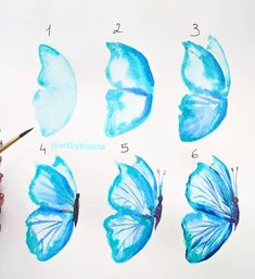 What is Your Painting Style? How do you find your own painting style? What is your painting style? Butterfly Painting, Butterfly Watercolor, Butterfly Art, Watercolor Art, How To Paint Watercolor, Butterflies, Butterfly Crafts, Watercolour Tutorials, Watercolor Techniques