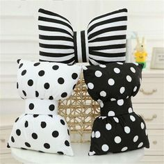 New Striped Bowknot Auto Car Seat Head Rest Cushion Pillows Neck Rest Pillows #Unbranded