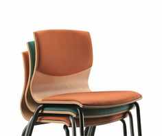 Stackable fabric chair WEBWOOD 353S Webwood Collection By TALIN