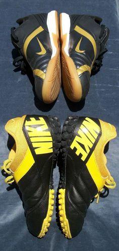 Lot 2 for 1@ Nike T90 & Nike5 Bomba Indoor Soccer Men Teen Shoes Yellow/Black    #Nike