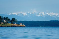 Turn Point Lighthouse, Stuart Island, Washington - I made this photo while boating this summer in Boundary Pass, which marks the border between Canada and the USA. The Turn Point Lighthouse marks the point where the border takes a sharp turn. http://annemckinnell.com/2014/08/18/turn-point-lighthouse-stuart-island-washington/ #photo #travel #BritishColumbia #landscape #exploreBC