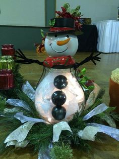 Snowman using Celebrating Home Bernard Hurricane #18058 and Snow Buddy Lantern #59523 How Cute is that? www.celebratinghome.com/sites/jshepherd  You may also visit Celebrating Home with Janet Shepherd on facebook for more Awesome decorating/recipe tips !