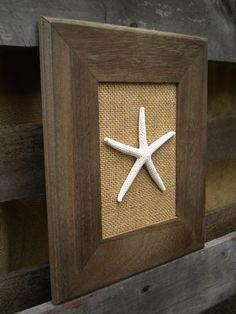 Cottage Chic Sea Shell Wall Art, Sea Shells Home Decor, Coastal Art, Beach Wall Art, Starfish Decor,
