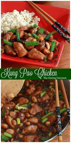 The BEST Kung Pao Chicken.  It beats any takeout version!  daringgourmet.com
