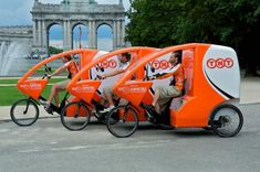 TNT Express Tricycles in Brussels