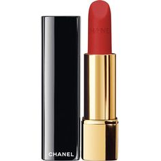 CHANEL ROUGE ALLURE VELVET Luminous Matte Lip Colour ($33) ❤ liked on Polyvore featuring beauty products, makeup, lip makeup, lipstick, lip gloss makeup, chanel, chanel lipstick, pencil lipstick and glossy lipstick