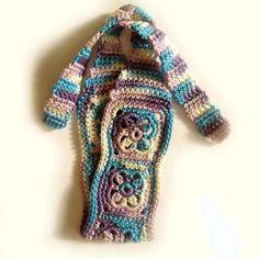 Crochet Headband Boho Hair Band in Blue by CatalinaInspired