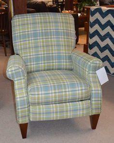 La-Z-Boy high leg recliner in abernathy plaid upholstery - Maine ...
